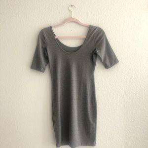 Jersey Knit Grey Bodycon Dress
